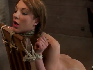 anal Tied up and forced to squirt like a fountain bdsm