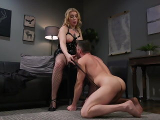 bdsm (shemale) Porn Creep Gets Dominated by Gorgeous Tgirl latex (shemale)