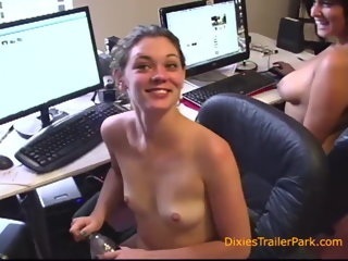blowjob Behind the Scenes at Our Office hardcore
