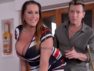 voluptuous Voluptuous woman with massive milk jugs is n the mood for a hardcore fuck and an orgasm massive