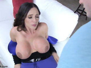 brunette Taken by her jealous son pornstar