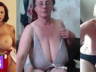 bbw Huge MILF Tits, Jerk Off Challenge To The Beat #7 milf