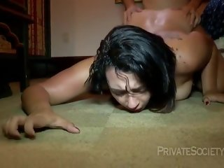 insatiable Insatiable bitch with braces got completely naked and spread her legs wide open, to get fucked completely