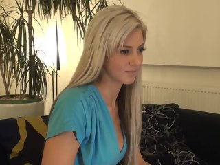 getting A beautiful blonde getting massaged blonde