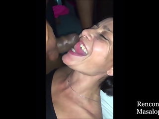 hardcore Wife has multiple orgasms while cuckold husband records cougar