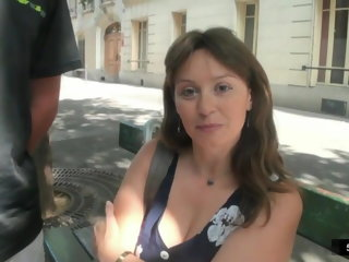 french milf French Milf Sylvie takes DP mature cock