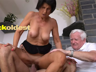 cuckoldest Old Man Licks Cum off His Wife Yetta best cuckold ever