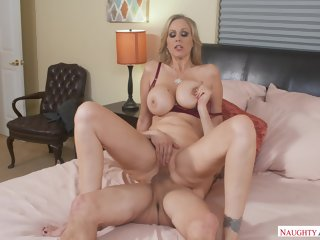 bedroom American Julia Ann Fucking In The Bedroom With Her Tits tits