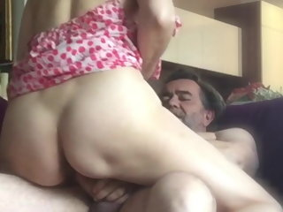 amateur Sosso2B is fucked on the sofa ! mature