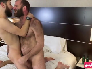 american (gay) Bearded Hirsute Dad-Hairy Ass Son: BJ-RIM-BB-SEEDING -FACIAL anal (gay)