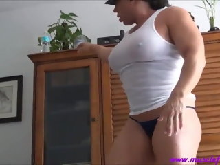 creampie pussy FBB workout and Creampie muscular woman