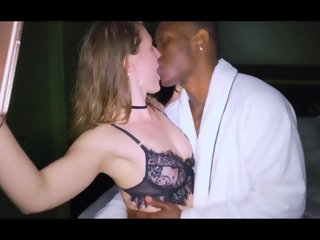 amateur Humongous black cock to slobber on for cheating white girl blowjob