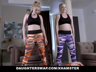 blonde DaughterSwap - Two Teens Fucking Each Others Dads After Work hd videos