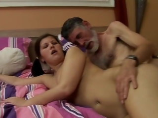 blowjob sex initiation of Pearl by best friend grandpa czech