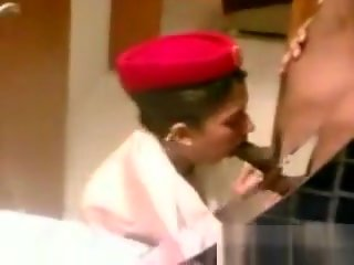 straight Indian Stewardess Sucking On A Cock blowjob