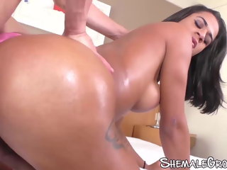 big ass (shemale) Latina tgirl Melissa Azuaga fucks stud before cumming big tits (shemale)
