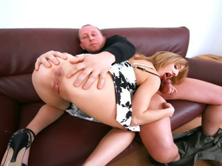 hardcore Dad Fucks with 18yr old Skinny Step Daughter and Facial old & young