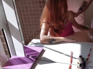 morning TEEN Step sister writing her diary ended up in BLOWJOB and ANAL at morning. blowjob