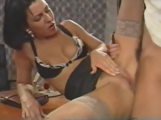 office Sex in office. Young skinny secretary in stockings anal secretary