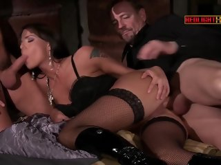 crystal Crystal Crown, TINA GABRIEL and Simony Diamond in The Dark Lady tina