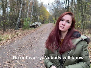 pickups Public pickup and cum inside the girl outdoors. KleoModel pick up